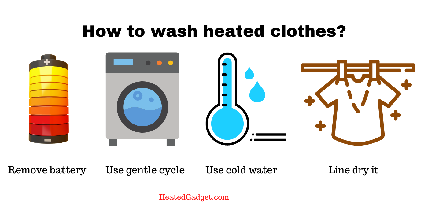 How to wash heated clothing