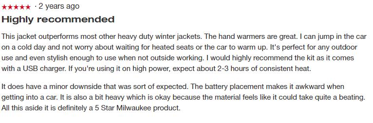 Milwaukee heated jackets review