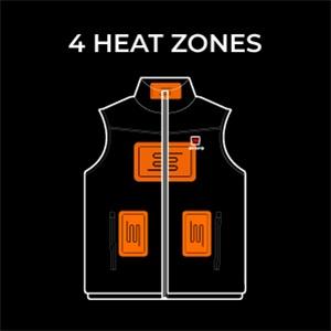 Ororo women heated jacket heat zones