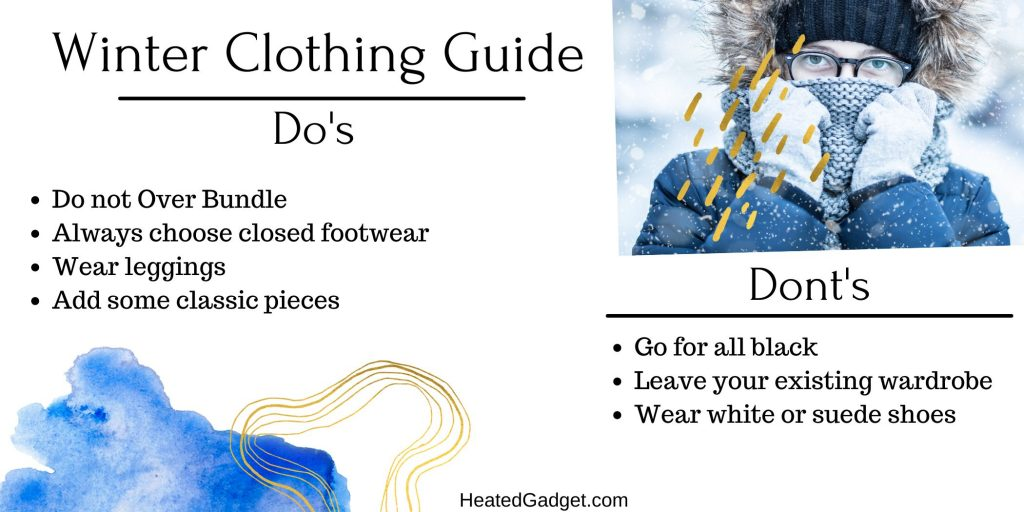Winter clothing infographic