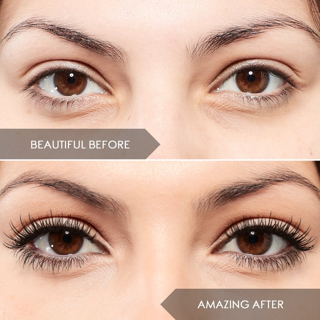 heated eyelash curler before and after