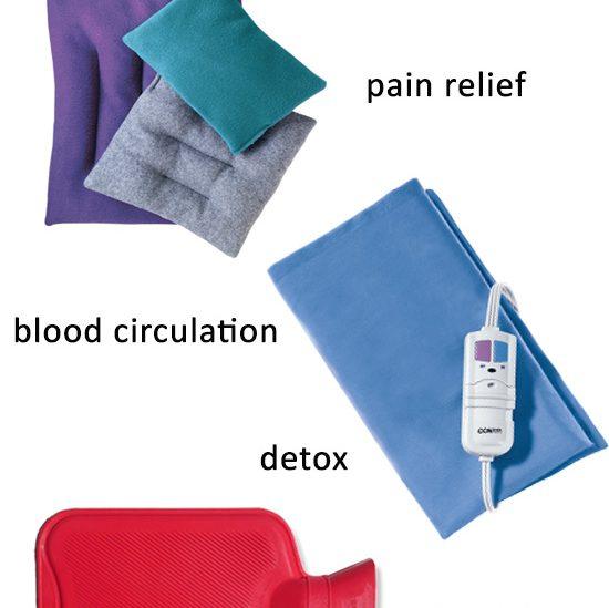 heal benefits of heting pads