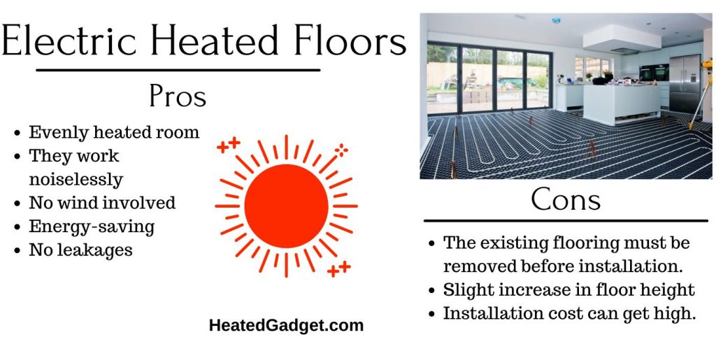 pros and cons of heated floors
