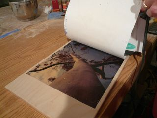 Print transfer paper from wood