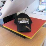 heat press vinyl on a hat