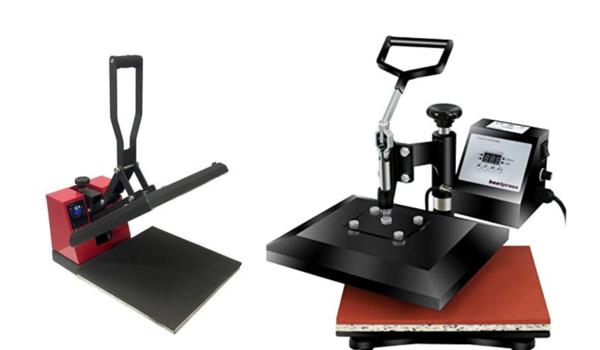 Swing away vs clamshell heat press