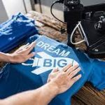 Heat press polyester shirt